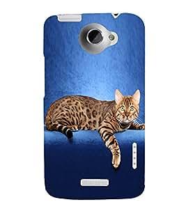 PrintVisa Designer Back Case Cover for HTC One X :: HTC One X+ :: HTC One X Plus :: HTC One XT (Pet Animal Cat)