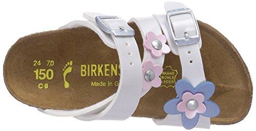 Birkenstock Kids Salina  Flower, Mules Fille Blanc - Weiß (PEARLY WHITE)