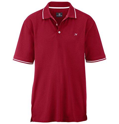 Jan Vanderstorm Herren Poloshirt SIDAR in Übergröße   Große Größen   Plus Size   Big Size   XL XXL XXXL 4XL 5XL 6XL 7XL 8XL 9XL 10XL Rot
