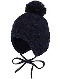 maximo Baby Mütze, Ausgenäht, Bindeband, Struktur
