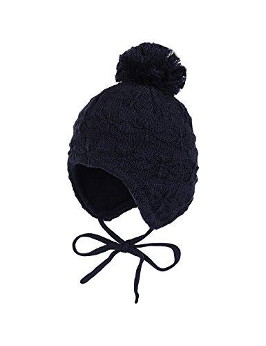 maximo Baby-Jungen Mütze, Ausgenäht, Bindeband, Struktur, Blau (Dunkelmarine 11), 45 cm (Herstellergröße: 45)