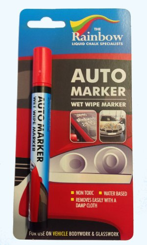 Rot Auto Marker–Abnehmbare Farbe für Karosserieteilen und Windschutzscheibe