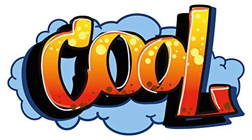 Wandtattoo Jugendzimmer Cool im Graffiti Style Schriftzug Wandsticker