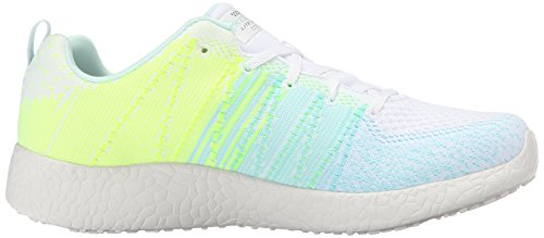 Skechers Burst-Ellipse Damen Textile Turnschuhe White/Multi