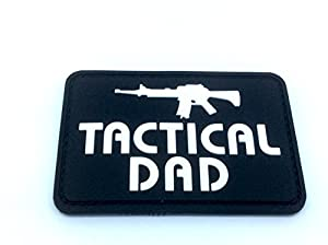 Tactical Dad Noir Airsoft Paintball PVC Moral Patch
