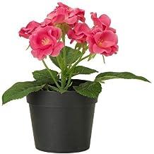 Ikea Fejka - Planta artificial en maceta, pequeña, 17,7 cm de alto x 8,8 de diámetro, color rosa oscuro
