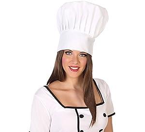 Atosa-34997 Sombrero Cocinero, Color Blanco, única (34997