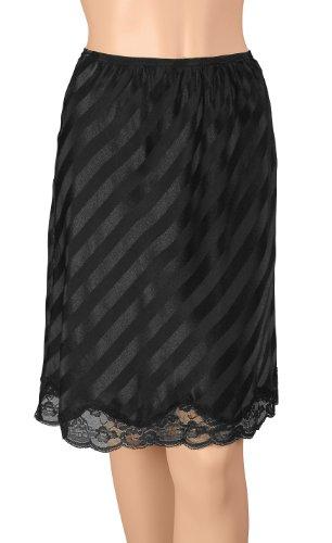 Gemsli Damen Unterrock 22 Inches Black