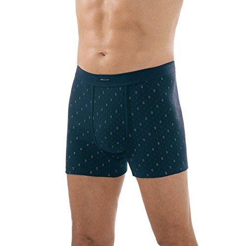 Comazo Herren Unterhose – 3er Pack – Marine-Blau – Gr. 6 (L)– Shorts aus reiner Baumwolle – Feinripp – Slip mit Bein – Ohne störende Seitennähte – Shorts mit Eingriff