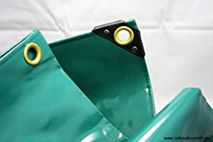 5,50€/m² PVC LKW Plane Abdeckplane 3,5 x 6 m 650g/m² grün