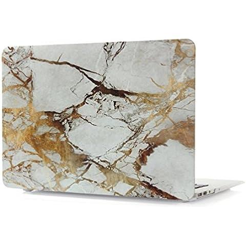 ColorMixs®Para el MacBook Air de 13 pulgadas / mármol patrón recubierto de goma dura del caso de la cubierta-Blanco / negro / oro del caso del patrón de mármol