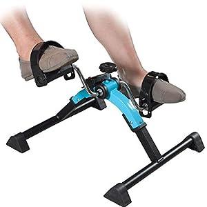 Personal. Mini Cyclette Pedaliera per Riabilitazione Braccia o Gambe, Resistenza Regolabile e Display LCD