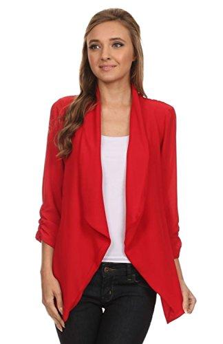 2LUV Plus Women's Plus Size Loose-Fitting Open-Front Asymmetrical Blazer Test