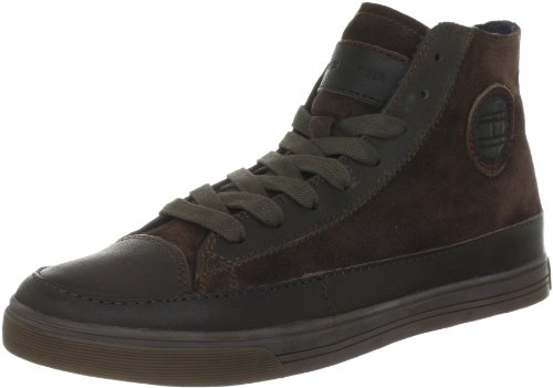 Tommy Hilfiger VINCENT 1, Sneaker uomo Marrone (Braun (DARK BROWN 201))