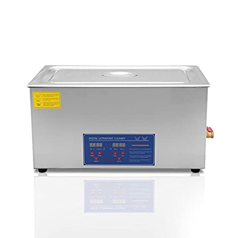 TravelerK Professional Ultrasonic Cleaning 30 Liter Stainless Steel Ultrasound Cleaner with Digital Heater Timer Bracket Ultrasound Jewelry Cleaner (30