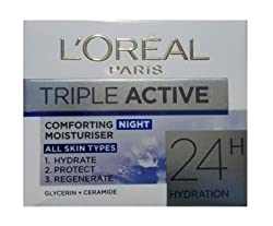 Loreal Triple Action Comforting Night Moisturiser (All Skin) 50ml with Ayur Product in Combo