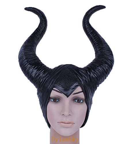en Black Horn Mask (Maleficient Hörner)