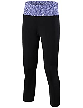 Donna Capri Pantaloni 3/4 Jogging Yoga Fitness Palestra Stretch Leggings