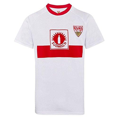 Score Draw Herren Retro - Trikot VfB Stuttgart | UEFA-Cup Finale Trikot 1989 in Weiß, Größe: XL