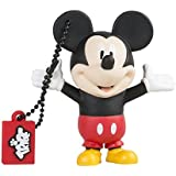 Tribe Disney Mickey Mouse USB Stick 8GB Pen Drive USB Memory Stick Flash Drive, Gift Idea 3D Figure, PVC USB Gadget with Keyholder Key Ring – Multicolor