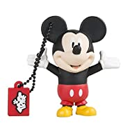 Tribe Disney Mickey Mouse USB Stick 8GB Pen Drive USB Memory Stick Flash Drive, Gift Idea 3D Figure, PVC USB Gadget with Keyholder Key Ring �?? Multicolor