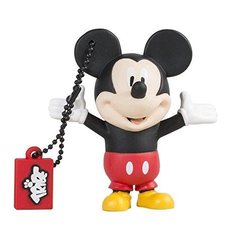 Tribe Disney Mickey Mouse USB Stick 8GB Speicherstick 2.0 High Speed Pendrive Memory Stick Flash Drive, Lustige Geschenke 3D Figur, USB Gadget aus Hart-PVC mit Schlüsselanhänger – Mehrfarbig