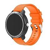 TopTen Silikon-Ersatzarmband für die Armbanduhren Garmin Vivoactive 3, Samsung Gear S2 Classic SM-R732, Moto 3602nd Gen für Herren, 42mm, Garmin Vivomove HR, Huawei Watch 2Smartwatch