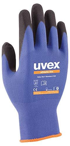 10 Paar uvex Athletic lite 60027 Arbeitshandschuhe nach EN 388 - Mechaniker Handschuhe für Werkstatt und Arbeit Gr. 9 (L) (Herren Grip Arbeitshandschuhe)