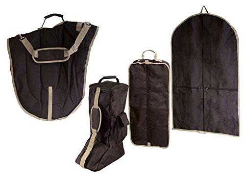 Derby Originals englischen Dressur-Sattel mit Zaumzeug und Kofferraum Garment (Set von 4), schwarz