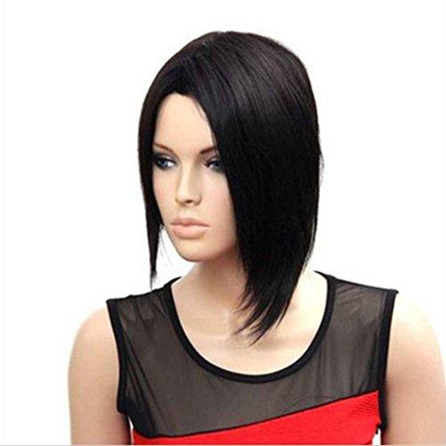 b Perücke Schwarz Front Lace Perücken Gesundheit Haar Dame Perücken Synthetische Haar Perücken Für Frauen (Persona 3 Halloween)