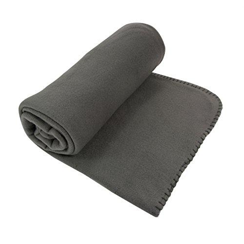Enjoy Home Plaid Polaire, Polyester, Gris, 160x130 cm