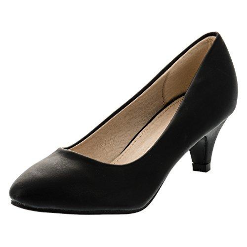 Festliche Mädchen Pumps Ballerina Schuhe Absatz Glitzer in Vielen Farben M342sw Schwarz 34