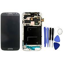 SKILIWAH-Pantalla Tactil LCD con Marco para Samsung Galaxy S4 i9505 LTE,Color Negro+Herramientas
