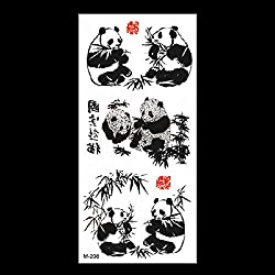 Etiqueta engomada de la simulación del tatuaje del animal Applique del tatuaje del dragón del tigre lobo Totem Etiqueta engomada impermeable del tatuaje 3pcs-39 90 * 190MM