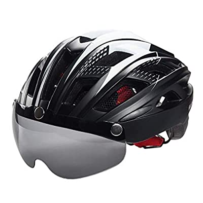 Zhongke Cycle Bike Helmet Light Weight Cycle Helmet with Detachable Magnetic Goggles Visor for Adult Men/Women Bike Riding Safety Protection from Zhongke Network technology Ltd