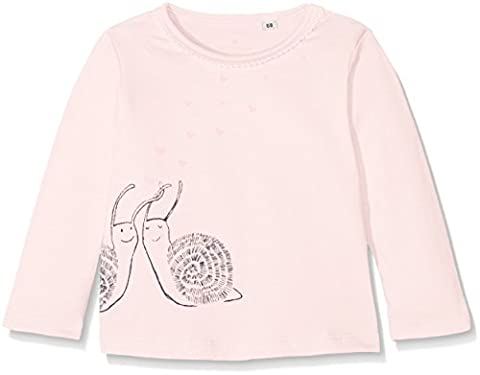 TOM TAILOR Kids Baby-Mädchen Langarmshirt Back and Front Print T-Shirt Rosa (Pastellic Pink 5699),