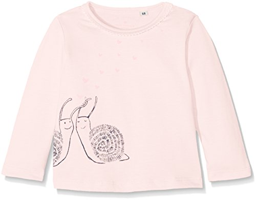 TOM TAILOR Kids Baby-Mädchen Langarmshirt Back and Front Print T-Shirt Rosa (Pastellic Pink 5699), 68