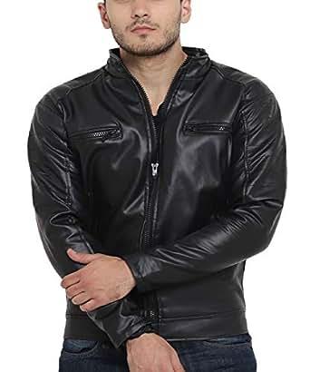 Teesort Men's Jacket (JKTBIKE-2-M_Black_Medium)