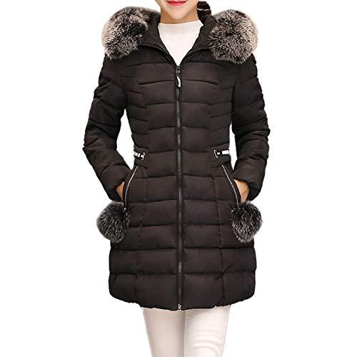 Theshy Damen Winterjacke Wintermantel Lange Daunenjacke Jacke Outwear Frauen Winter Daunenmantel Arbeiten Sie Festen BeiläUfigen Dickeren DüNnen Mantel Um Mit Kapuze Dicke Baumwolle