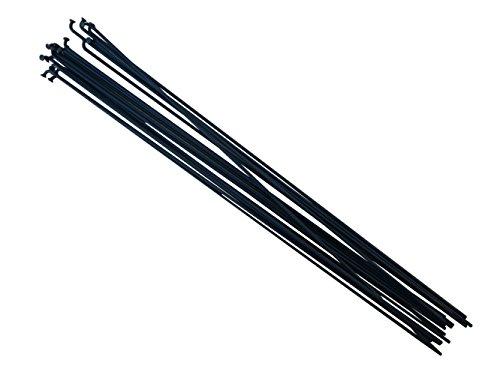 pilastro P1418PCS, lunghezza: 252mm-296mm, in acciaio INOX, nero bicicletta raggi, P14, Black, 294mm