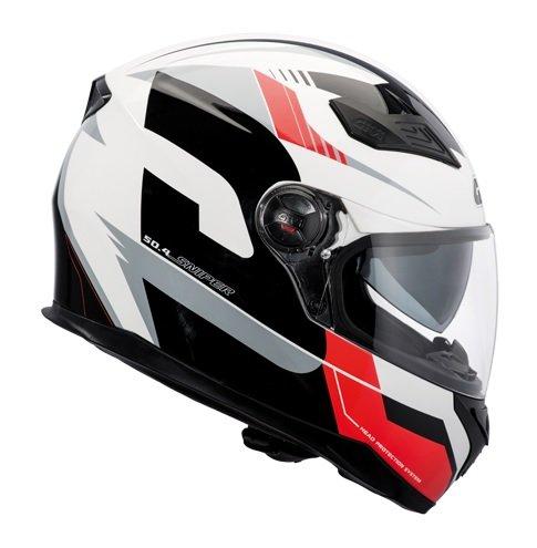 GIVI H504FSPRD61 Hps 50.4B Integral Casco con Visera deportiva, Color Rojo, Talla 61/XL