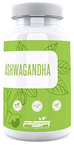 Ashwagandha hochdosiert 90 Kapseln, 500 mg Extrakt davon 7,5 mg Withanoliden je veganer Kapsel ohne Zusätze, indischer Ginseng - von der Profisport-Marke FSA Nutrition, Hergestellt in Deutschland