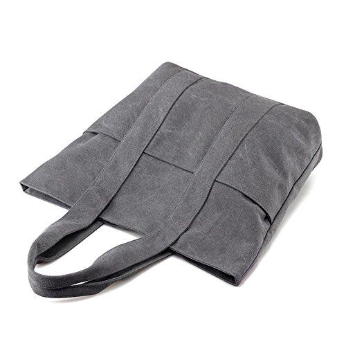 Pacchetto di modo semplice di Messenger della spalla delle signore della borsa della tela di canapa Beige
