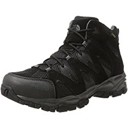 The North Face Storm Hike Mid Gore-Tex EU, Botas de Senderismo Para Hombre, Varios Colores (TNF Black/Dark Shadow Grey), 45 EU