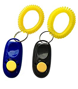 Sifflet de dressage de chien chiot Chat Pet Clicker Training Dressage Guide de sangle de poignet