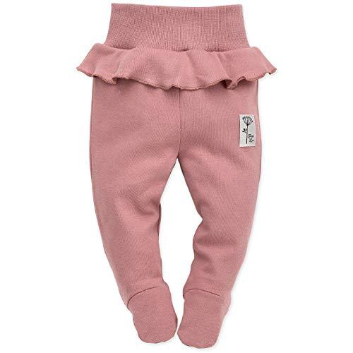 Pinokio - Petit Lou - Baby Hose/Strampler Hose Neugeborene - Rosa Blau - 100% Baumwolle Schlafhose mit Füßen (elastischer Bund) (74 cm, Rosa) - Petite Hose Hosen