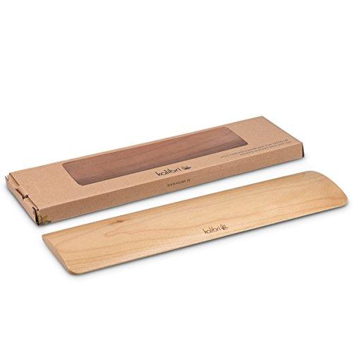 kalibri Reposamuñecas para teclado y ratón - Apoyo de muñecas para el ordenador - Soporte de mano para PC portátil - Tamaño M en madera de arce