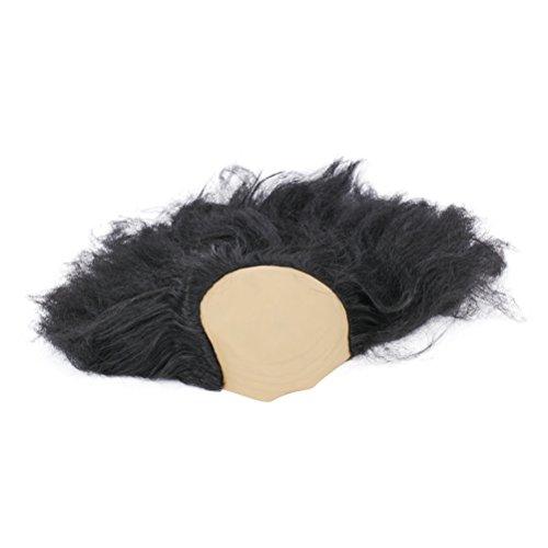 BESTOYARD Halloween kahle Perücke lustige alte Dame Perücken Masquerade Supplies Perücke Kopf Maske Halloween-Kostüm (Schwarz)