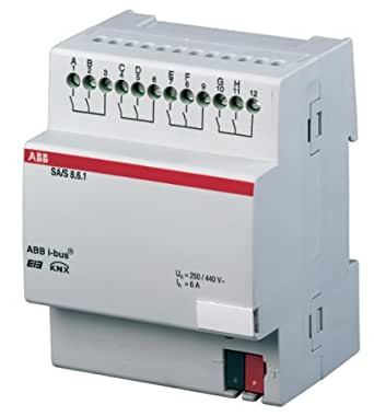 ABB SA/S8.16.1 EIB/KNX Switch Actuator 16 A REG 8-Fold