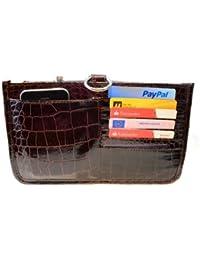 Periea - Sac de rangement/Pochette/Organisateur intérieur pour sac à main , 15 poches, Taille Moyen 24x14x16cm - Claire deep wine